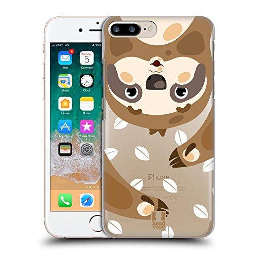 Gesicht Iphone (Head Case Designs Faultier Süsse Tier Gesichter Ruckseite Hülle für Apple iPhone 7 Plus / iPhone 8 Plus)