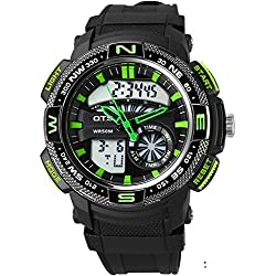 boys digital watch/ simple dual watch/Youth waterproof watch-C
