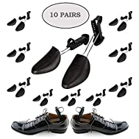 Plastic Shoe Trees For Men Adjustable Lightweight - 10 Pairs Adjustable Shoe Trees To Keep Shoes In Pristine Conditions