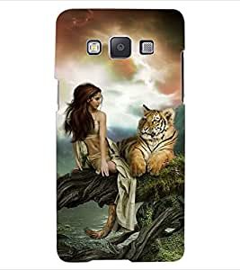 ColourCraft Girl with Tiger Design Back Case Cover for SAMSUNG GALAXY A5 A500F