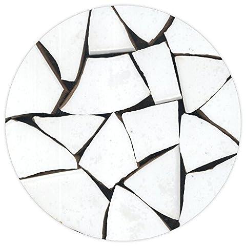 Mosaic, Broken ceramic, 20-50mm, 1kg Pure white, BW01