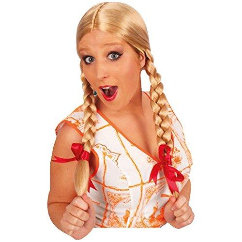 blond mit Zöpfen Lange Haare Perücken Glatthaarperücke (Blonde Lange Perücke Mit Einem Zopf)