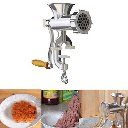 Henreal Picadora de Carne Manual y embutidora de Salchicha Picadora de Carne Picadora de Pasta Máquina para Hacer Pasta