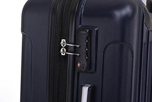 BEIBYE TSA Schloß, Zwillingsrollen, Dehnungsfuge, Hartschale Trolley Koffer Kofferset Reisekoffer Gepäckset (Dunkelblau) - 5