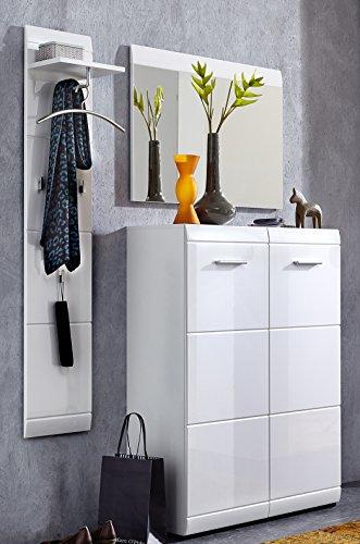 Germania 8786-84 GW-Adana Garderoben-Set , MDF, beschichtete Spanplatte, weiß, 36.00 x 140.00 x 197.00 cm