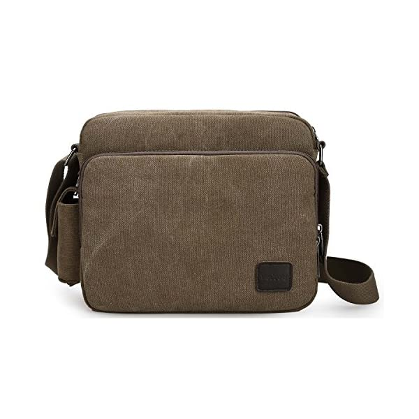 MeCooler Men s Canvas Weekender Messenger Bag for Travel Crossbody Sports  Over Shoulder Vintage Military Overnight Casual Cross Body Side Beach Pack  Bag 220695bbedcaa