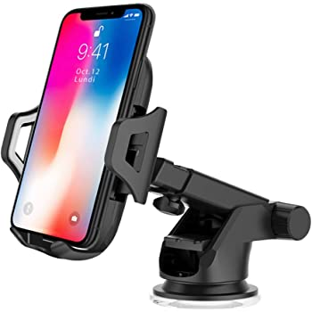 AUKEY Support Smartphone Voiture Grille Aération Universel avec Rotation 360°Porte Téléphone