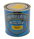 Hammerite 5084874 Metal Paint: Smooth Yellow 250ml