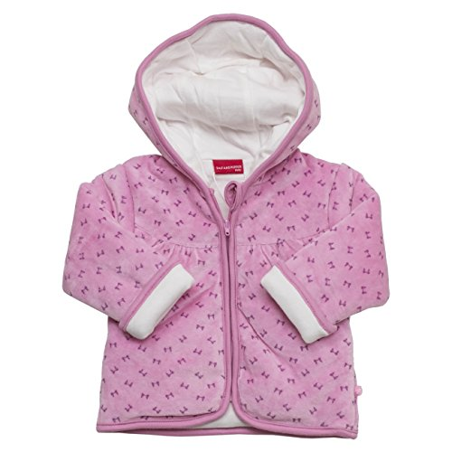 SALT AND PEPPER Baby-Mädchen Sweatshirt NB Jacket Love Allover Nicki, Rosa (Mauve 859), 62