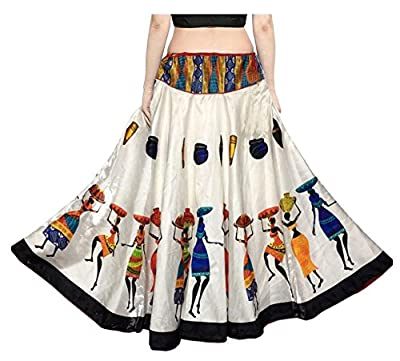 Mira Creation Women's Banglori Satin Skirt(MR04_Multicolour_Free Size)