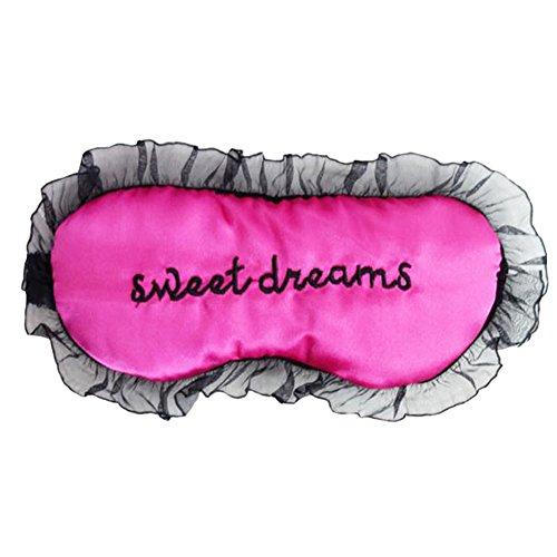 Hosaire 1x Schlafmaske Netter 'Sweet Dreams' Muster Design Augenmaske Müdigkeit Spitze Damen Eye Mask Premium-Schlafmaske Schlafbrille für...