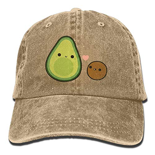Baseball Cap Cute Avocado and Stone Unisex Golf Hats Adjustable Baseball Hat