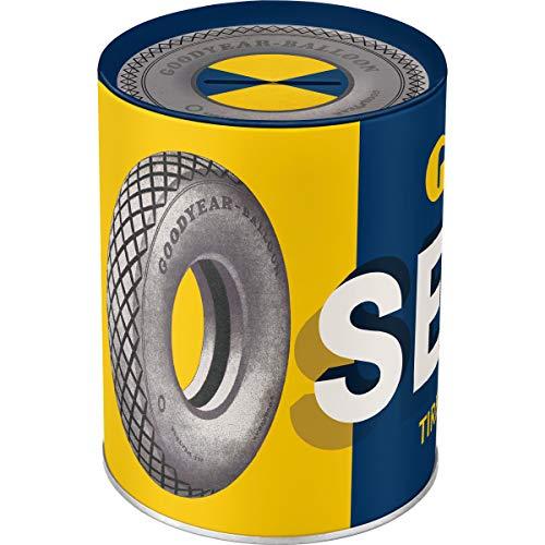 Nostalgic-Art 31019 Goodyear - Service | Retro Spardose | Spar-Büchse | Geld-Dose | abnehmbarer Deckel | Metall