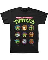 Teenage Mutant Ninja Turtles TMNT Cast Faces Cartoon Adult T-Shirt Tee