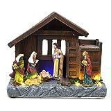Shatchi Navidad LED casa Set de Belén Musical de Navidad decoración para el hogar con Luces y...