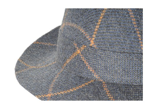 NewUrban - Chapeau - Femme Blue with orange plaid