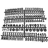 Tableau à Lettres avec Message Amovible, numéros de Maison, Personnages, interchangeables, Bureau pour Enfants en Feutre, Cadeau de l'alphabet Anglais, Noir, Taille Unique...