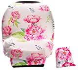 Baby Car Seat Cover Canopy-Multi-Use Stretchy Cover-Shopping Cart, Nursing Breastfeeding Cover.