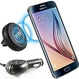 KFZ Set für Samsung Galaxy S8 / S8 Plus / A3 2017 / A5 2017 / scozzi Magnethalterung für die Lüftung im Auto + passendes KFZ Ladekabel