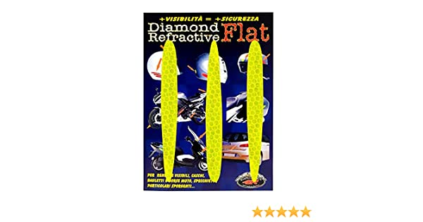 Set di 3 Giallo 4R Quattroerre.it 5557 Adesivi Rifrangenti Arrows Diamond Flat