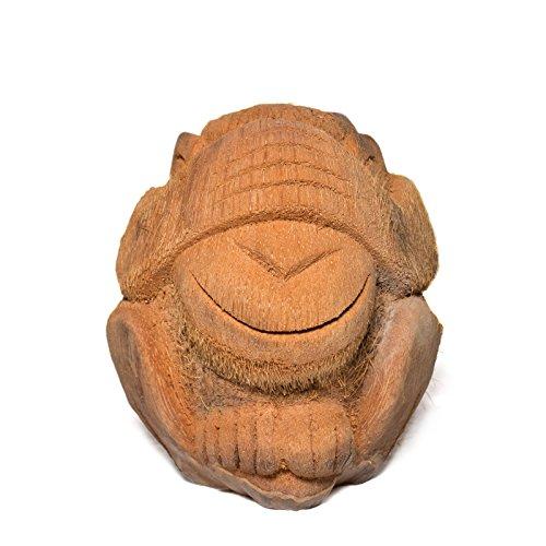 VEO Nada Mono Figura de coco aprox. 18cm Escultura