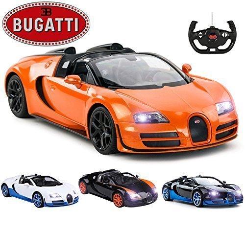 comtechlogic cm-2146 offiziell lizenziert 2.4GHz GHz 1:14 Bugatti Veyron 16.4 Grand Sport Vitesse Funkfernsteuerung RC Elektroauto EP RTR - Orange - Metallic Pulverbeschichtet