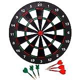 Kyerivs Dartscheibe Dart Board mit 6 Soft Darts Set und Weich Tipp Sicherheit Dart - Tolle Spiele für Kids - Freizeitsport für Büro (Set)