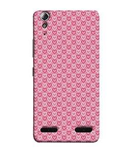 Fuson Designer Back Case Cover for Lenovo A6000 :: Lenovo A6000 Plus :: Lenovo A6000+ (Hearts Spades Coffee Red Love )