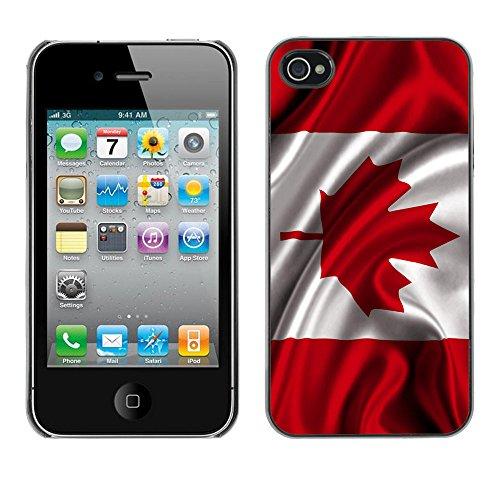 "Graphic4You Quebec ""La Belle Province"" Flagge Design Harte Hülle Case Tasche Schutzhülle für Apple iPhone 4 und 4S Design #2"