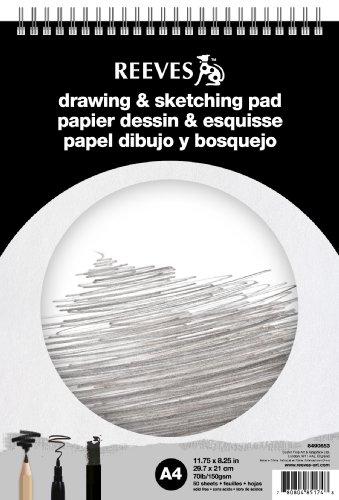 reeves-8490653-block-skizzen-und-zeichnen-spirale-a4-50-seiten