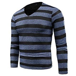 Men Long Sleeve Tops HEHEM Men's Autumn Winter Sweater Pullover Slim Jumper Knitwear Outwear Blouse Polo Sweatshirt Long Sleeve Shirts T-Shirt Polo Shirts