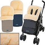 Winterfußsack/Fußsack (100% ECHTES LAMMFELL) für Kinderwagen/Buggy / Jogger Kinderwagenfußsack (BEIGE)