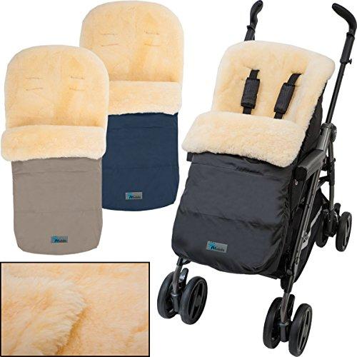 *Winterfußsack/Fußsack (100% ECHTES LAMMFELL) für Kinderwagen/Buggy*
