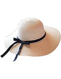 Leisial Femme Capelines melon de Paille chapeau à large bord Anti-soleil Respirant Anti UV chapeau de soleil