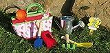 Gartengeräte für Kinder Tasche Blau oder Rot Set Gießkanne Harke Schaufel Namesschild