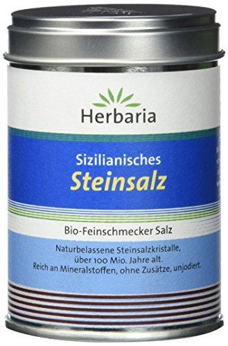 Herbaria Sizilianisches Steinsalz, 1er Pack (1 x 200 g Dose) - Stand Salz