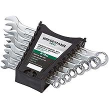 Ring-Maulschlüssel Set 8tlg. 8-19mm I WIESEMANN 80201 I Schraubenschlüssel Satz im Werkzeug Halter