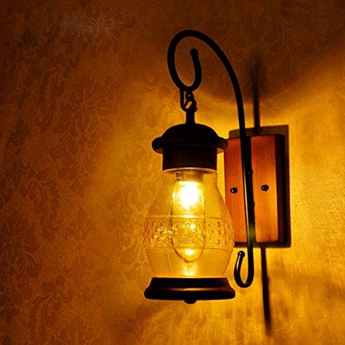 lampe de mur lampe de mur den salon de chevet chambre à coucher balcon de jardin Continental Chinese American lampe industrielle designers créatifs