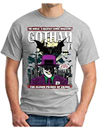 OM3 Gotham-Comic - T-Shirt Clown Joker Pinguin Mr. Freeze Jack GHC Emo SWAG Geek