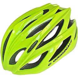 Casco para bicicleta modelo C380 de C Originals, disponible en 6 colores, ultra ligero (210g); casco de seguridad con certificado CE, HI VIS YELLOW