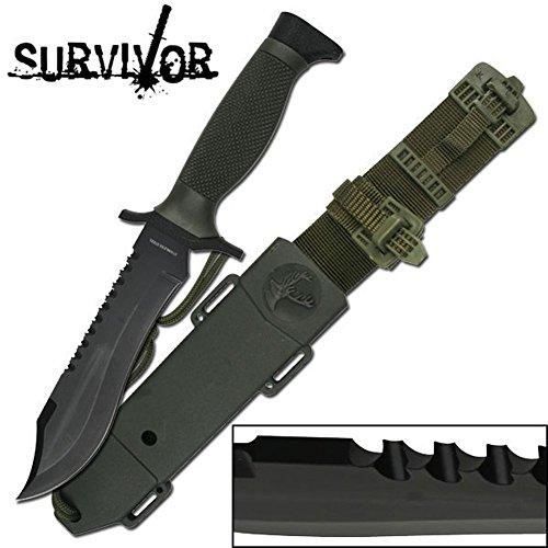 Survivor Messer Outdoormesser Überlebensmesser 12-Zoll insgesamt HK-6001