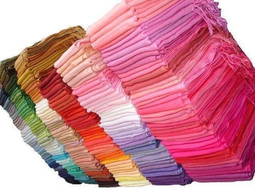Pashmina Echarpe Châle - Plus de 100 superbes couleurs à choisir par kuldip Presque Argent
