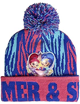 Shimmer And Shine 2200-2569 Cappello Invernale Pompon, Luce LED, Acrilico, Bambina, Multicolore