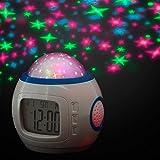 Reloj digitaLCD despertador - Proyector de estrellas para la iluminación