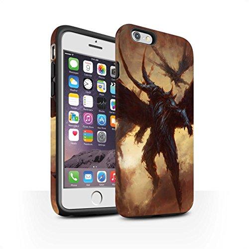 Offiziell Chris Cold Hülle / Matte Harten Stoßfest Case für Apple iPhone 6S / Vampirfledermaus Muster / Wilden Kreaturen Kollektion Flügel von Nox