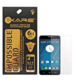 iKare Fiber Tempered Glass Screen Protector for Yu YUNIQUE (REUSABLE, ULTRA CLEAR, REAL SHOCK PROOF, UNBREAKABLE)