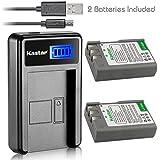 Kastar EN-EL9a Camera Batteries (Pack Of 2) With LCD Slim USB Charger For Nikon EN-EL9