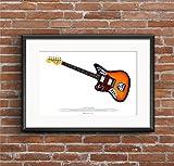 Kurt Cobain Fender Jaguar Gitarre Kunst POSTER A2 Größe