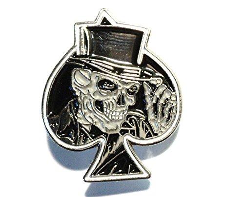 Mainly Metal - Insignia, diseño de Calavera esmaltada cráneo, Color Negro