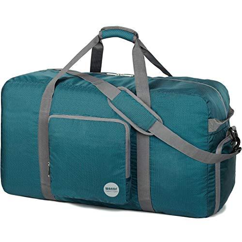 Faltbare Reisetasche 120L, Superleichte Reisetasche für Gepäck Sport Fitness Wasserdichtes Nylon von WANDF